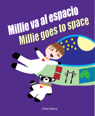 Millie va al espacio/Millie goes to space (Spanish and English edition)