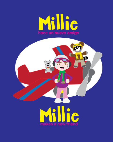 Millie hace un nuevo amigo/Millie makes a new friend (Spanish/English)